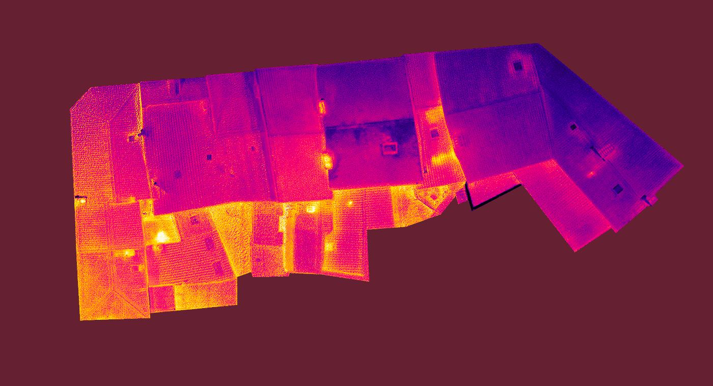 thermographie par drone